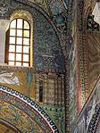 San vitale, ravenna, int., presbiterio, mosaici dell'arcone 04 betlemme celeste.JPG
