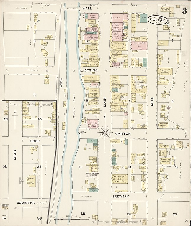 File Sanborn Fire Insurance Map From Colfax Whitman County