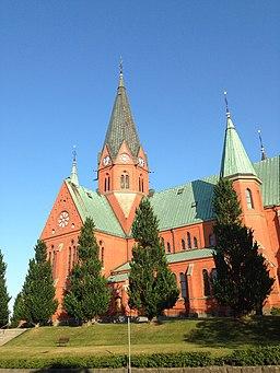 Sankt Petri kirke i Västervik, afhøvlet mod nord