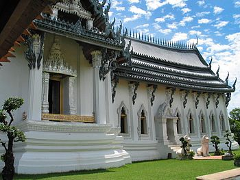 Replica of the royal Sanphet throne hall in the palace of Ayutthaya