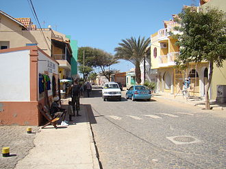 Santa Maria, Cape Verde - Typical street in Santa Maria