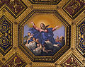 Santa maria in trastevere, int., soffitto del domenichino 02 assunta.JPG