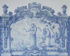 Santo António pregando aos peixes. Guimarães