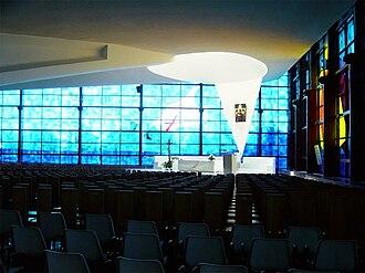 Santuario della Madonna del Divino Amore - The inside of the new church