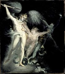 Satan and Death with Sin Intervening