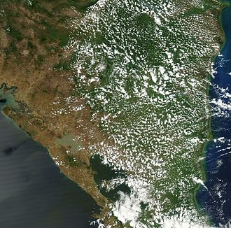 Geography of Nicaragua - Satellite image of Nicaragua in March 2003