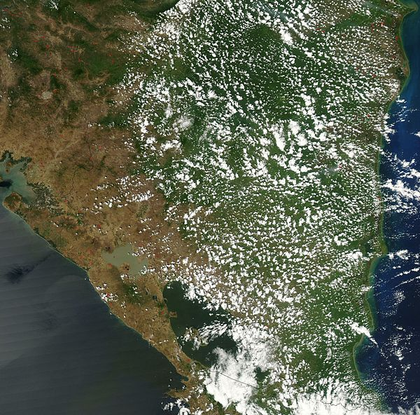 Satellite image of Nicaragua in March 2003 Satellite image of Nicaragua in March 2003.jpg