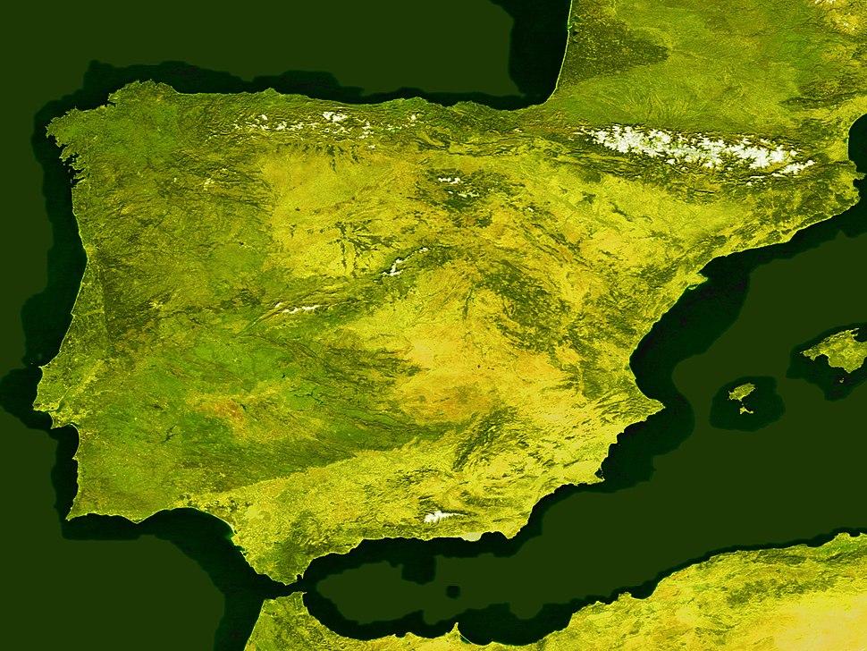 Satellite image of Spain in January 2004 (resaltado)