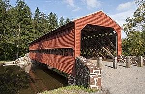 Sachs Covered Bridge - Image: Sauck's Covered Bridge PA1