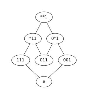 Schema (genetic algorithms) - Image: Schematic Lattice