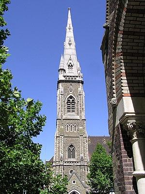 Presbyterian Church of Australia - Scots' Church, Melbourne's Gothic tower