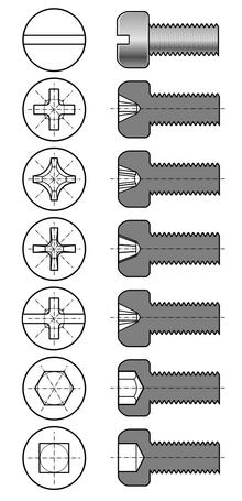 Bolt Head Types >> tête de vis — Wiktionnaire