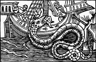 Itxas sugea The great sea-serpent. An historical and critical treatise. liburuan irudikatua
