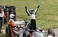Sebastien Bourdais - NewmanHaas Racing celebrates the win at the 2003 Champcar London Trophy race (50813831271).jpg