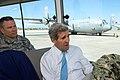 Secretary Kerry Passes a U.S. Air Force C-130J During a Driving Tour of Camp Lemonnier in Djibouti (17209485189).jpg