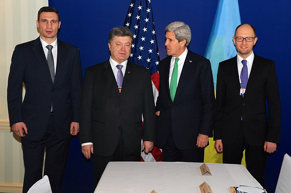 Secretary Kerry Poses for a Photo With Ukranian Opposition Leaders in Munich