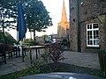 Sefton church and Punchbowl Inn, Sefton village Summer eve CAMRA trip.jpg