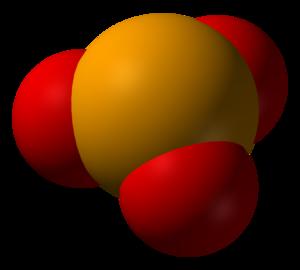 Selenite (ion) - Space-filling model of selenite