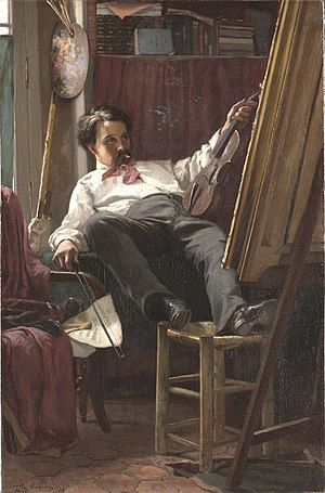 Thomas Hovenden - Self-Portrait of the Artist in His Studio (1875), Yale University Art Gallery.