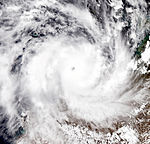 Severe Tropical Cyclone Laurence, 15 December 2009 - Australia 1 & 2 Aqua 250m subsets (cropped).jpg