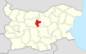 Sevlievo Municipality - Image: Sevlievo Municipality Within Bulgaria