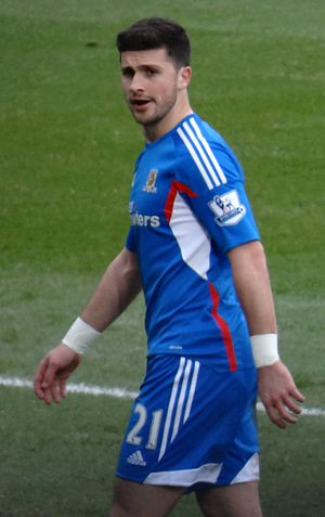 Shane Long - Long playing for Hull City in February 2014