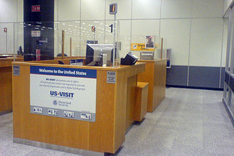 Shannon Airport - The United States immigration booths at Shannon prior to the opening of the new Customs and Border Protection facilities (November 2008).