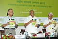 Sharad Pawar releasing a book, at the inauguration of the National Horticulture Conference, in New Delhi on July 17, 2013. The Agriculture Secretary, Shri Ashish Bahuguna is also seen.jpg