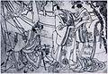 Sharaku (c. 1794–95) Nakagawa Tomisaburō II, Ichikawa Omezō I, Ichikawa Komazō III.jpg