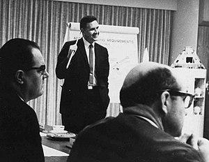 Joseph Francis Shea - Shea at an engineering meeting during the Apollo program
