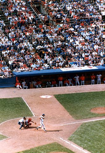 Shea Stadium was the Mets' home field from 1964 to 2008. Shea stadium.jpg