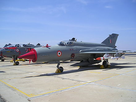 IAF MiG-21s were used extensively in the Kargil war. - Kargil War