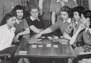 Contract bridge - Bridge club at Shimer College, 1942.