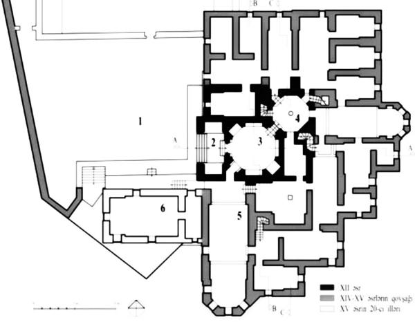 Şirvanşahların saray binasının planı