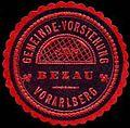Siegelmarke Gemeinde-Vorstehung Bezau - Vorarlberg W0261676.jpg