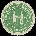 Siegelmarke Gemeinde Grossschweidnitz Amtsh. Löbau 1843 W0338432.jpg