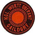 Siegelmarke Königlich Württembergisches Oberamt - Gaildorf W0256043.jpg