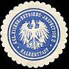 Siegelmarke Königliche Eisenbahn - Betriebs - Inspection 2 - Halberstadt W0229521.jpg