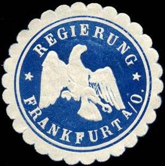 Regierungsbezirk Frankfurt - Sealing stamp of the Frankfurt Region, Weimar period