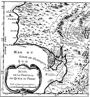 Salinas, Ecuador - Part of map of the coast of Ecuador in the eighteenth century