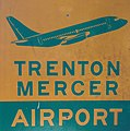 Sign for Trenton-Mercer Airport used since the mid 1990s.JPG