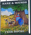Sign for the Hare and Hounds, Cowfold - geograph.org.uk - 978353.jpg