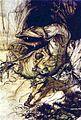 Sigurd kills Fafnir by Rackham.jpg