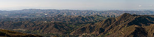 Simi Hills - Panoramic view of the Simi Hills looking north from the Santa Monica Mountains.