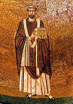 Simmaco - mosaico Santa Agnese fuori le mura