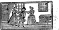 Simple Simon's misfortunes and his wife Margery's cruelty, which began the very next morning after their marriage Fleuron T190535-5.png