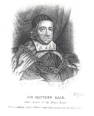 Matthew Hale (jurist) - Hale as Chief Justice of the King's Bench