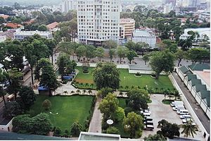 Site of the former US Embassy, Saigon, now use...