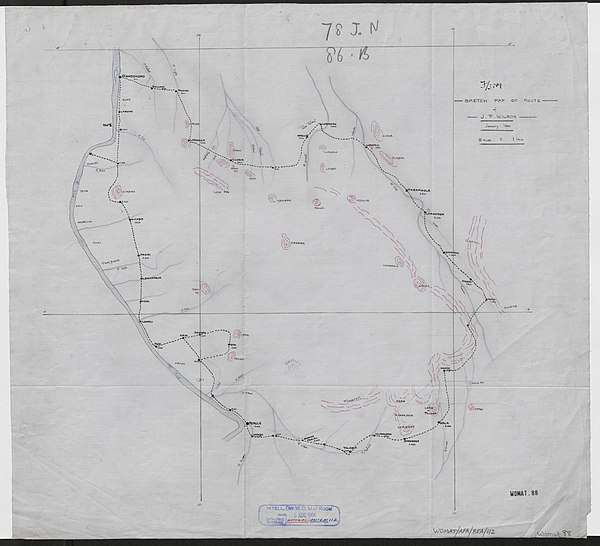 600px sketch map of route of j.p. wilson january 1904 %28womat afr bea 112%29