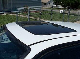 Sunroof - A sliding glass sunroof on an Acura Integra